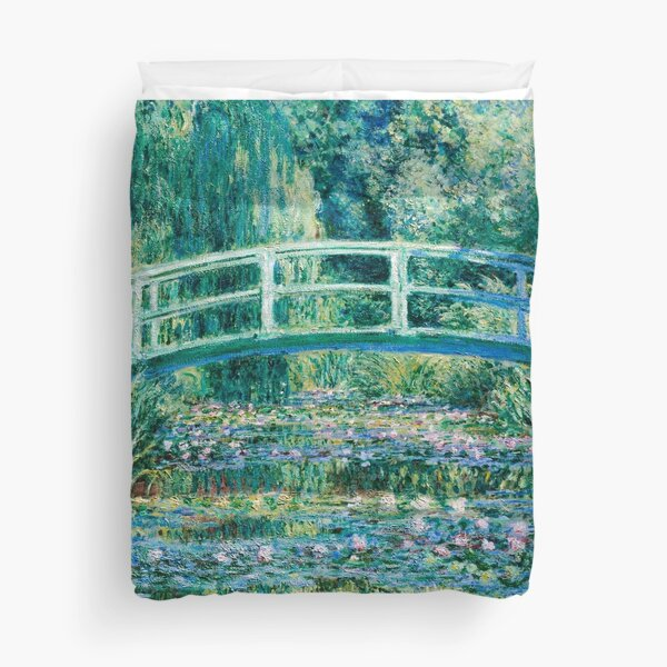 1899-Claude Monet-Water Lilies and Japanese Bridge Duvet Cover