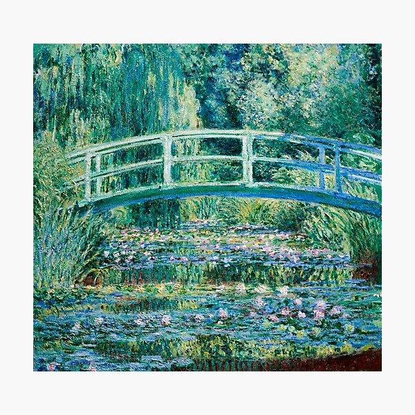 1899-Claude Monet-Water Lilies and Japanese Bridge Photographic Print