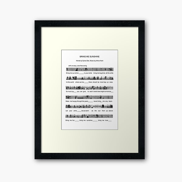The Good People of Morecambe Are Playing All The Right Notes (Bring Me Sunshine) Framed Art Print