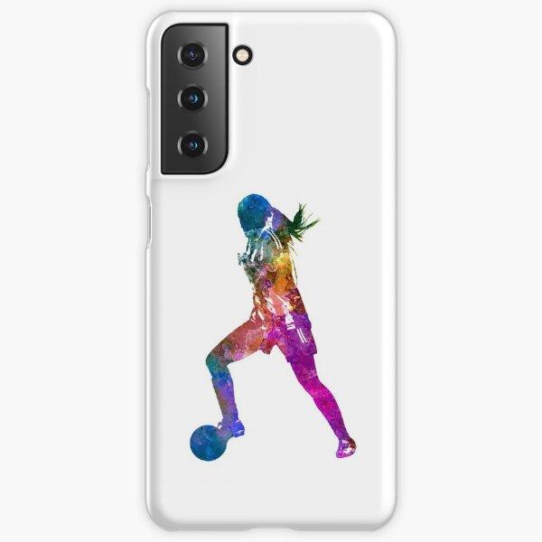 Coque et skin adhésive Samsung Galaxy « Girl, jouer, football ...