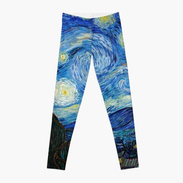 1889-Vincent van Gogh-The Starry Night-73x92 Leggings