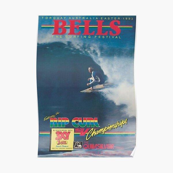 affiche de surf australie vintage 1983 Poster