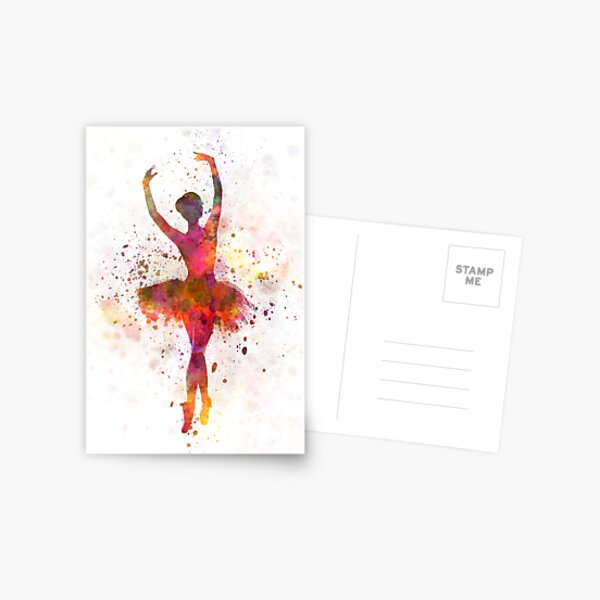 Woman ballerina ballet dancer dancing  Postcard