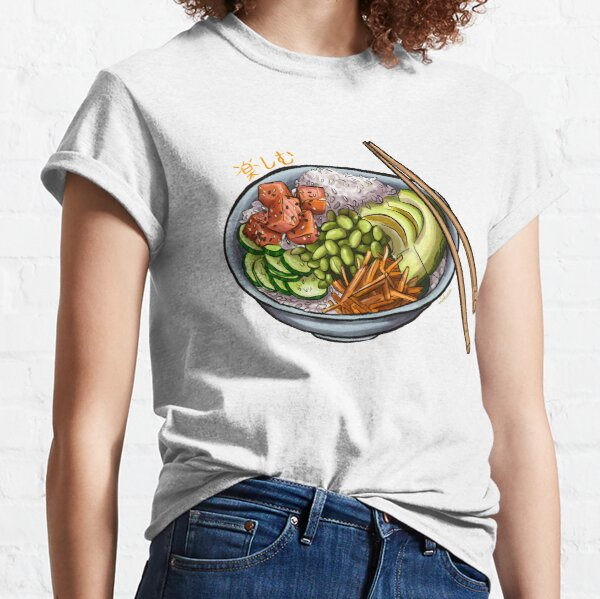Poke Bowl with salmon and fresh vegetables Classic T-Shirt