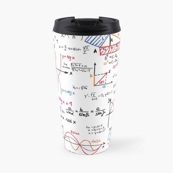 Mathematics Formulas Numbers  Travel Mug