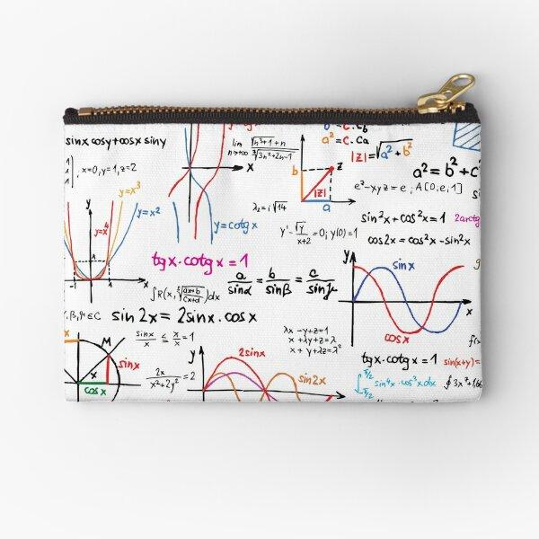 Mathematics Formulas Numbers  Zipper Pouch