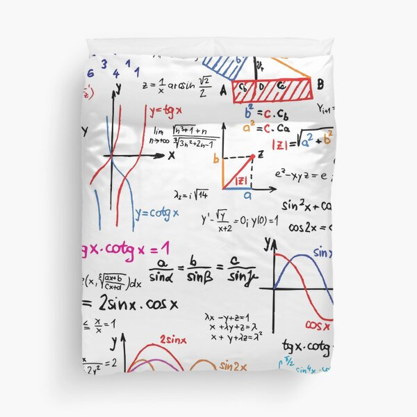 Mathematics Formulas Numbers  Duvet Cover