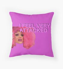 I feel very attacked Throw Pillow