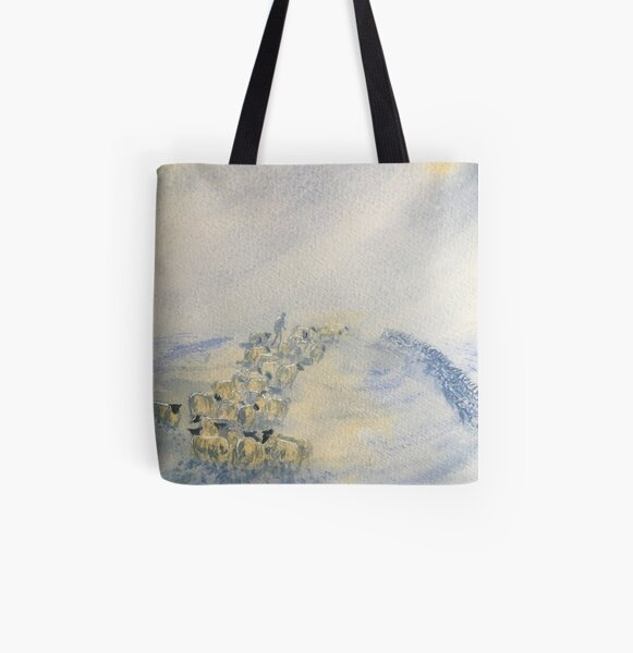 Snowstorm ont'Tops All Over Print Tote Bag