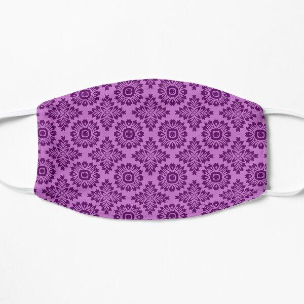 Blumenornament barock violet 21102020 in Groß Flache Maske