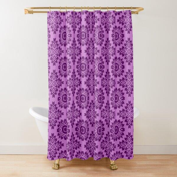 Blumenornament barock violet 21102020 in Groß Duschvorhang