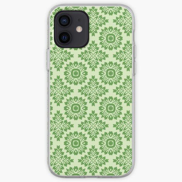 Blumenornament barock light green 21102020 in Groß iPhone Flexible Hülle