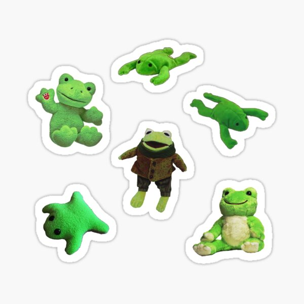 frog pack Sticker
