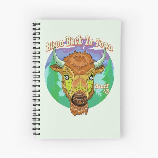 Bison back in Banff Spiral Notebook