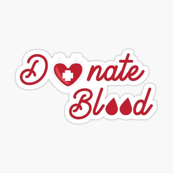 Donar sangre donar vida donación de sangre Pegatina