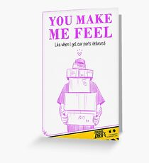 Valentine's Day Card: Car Parts Delivery Greeting Card