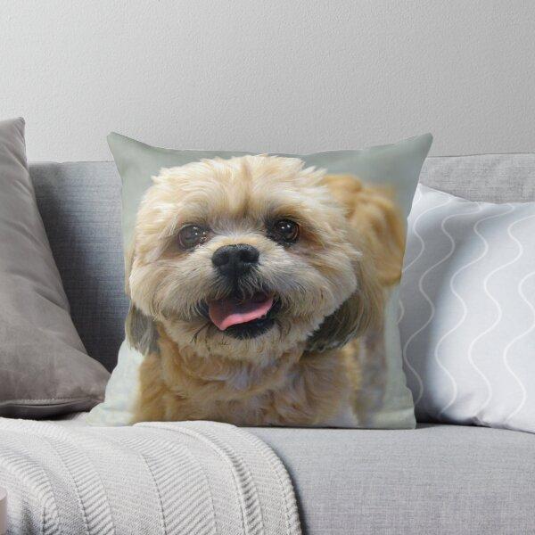 Smiling Shih Tzu Dog Throw Pillow