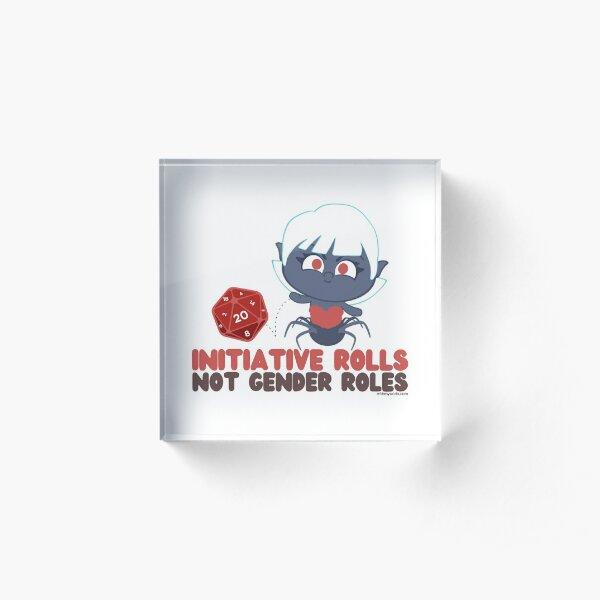 Initiative Rolls // D20 // Arachne // Fantasy Acrylic Block
