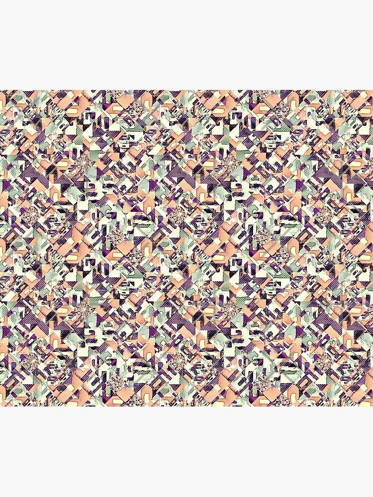 Abstract Halftone Diamonds by perkinsdesigns