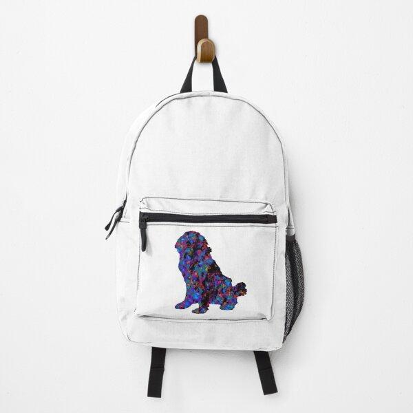 Newfoundland Dog Colorful Backpack