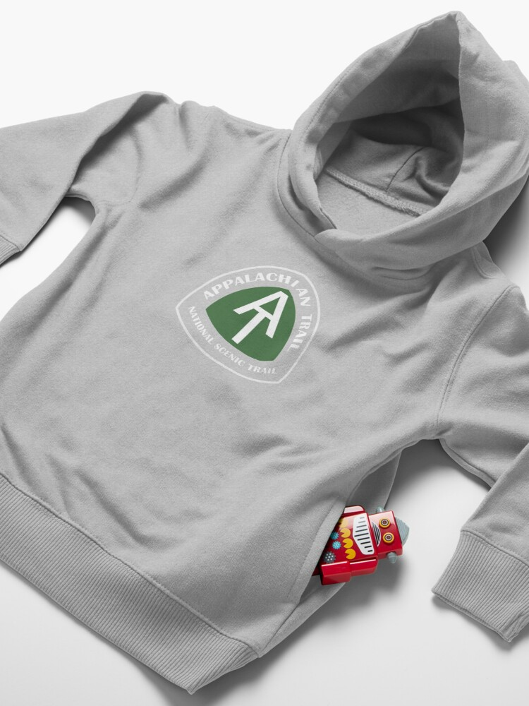 Alternate view of Appalachian Trail Vintage Trail Marker Toddler Pullover Hoodie