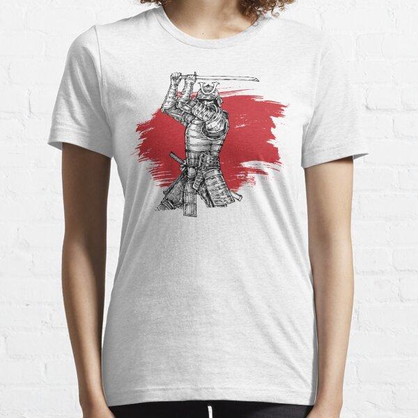 Samurai Warrior Armored Ronin Oni Mask Katana Essential T-Shirt
