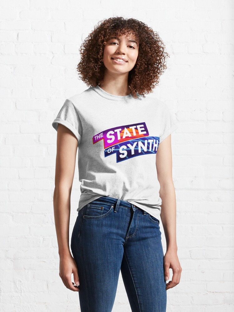 Alternate view of The State of Synth Sunset Classic T-Shirt