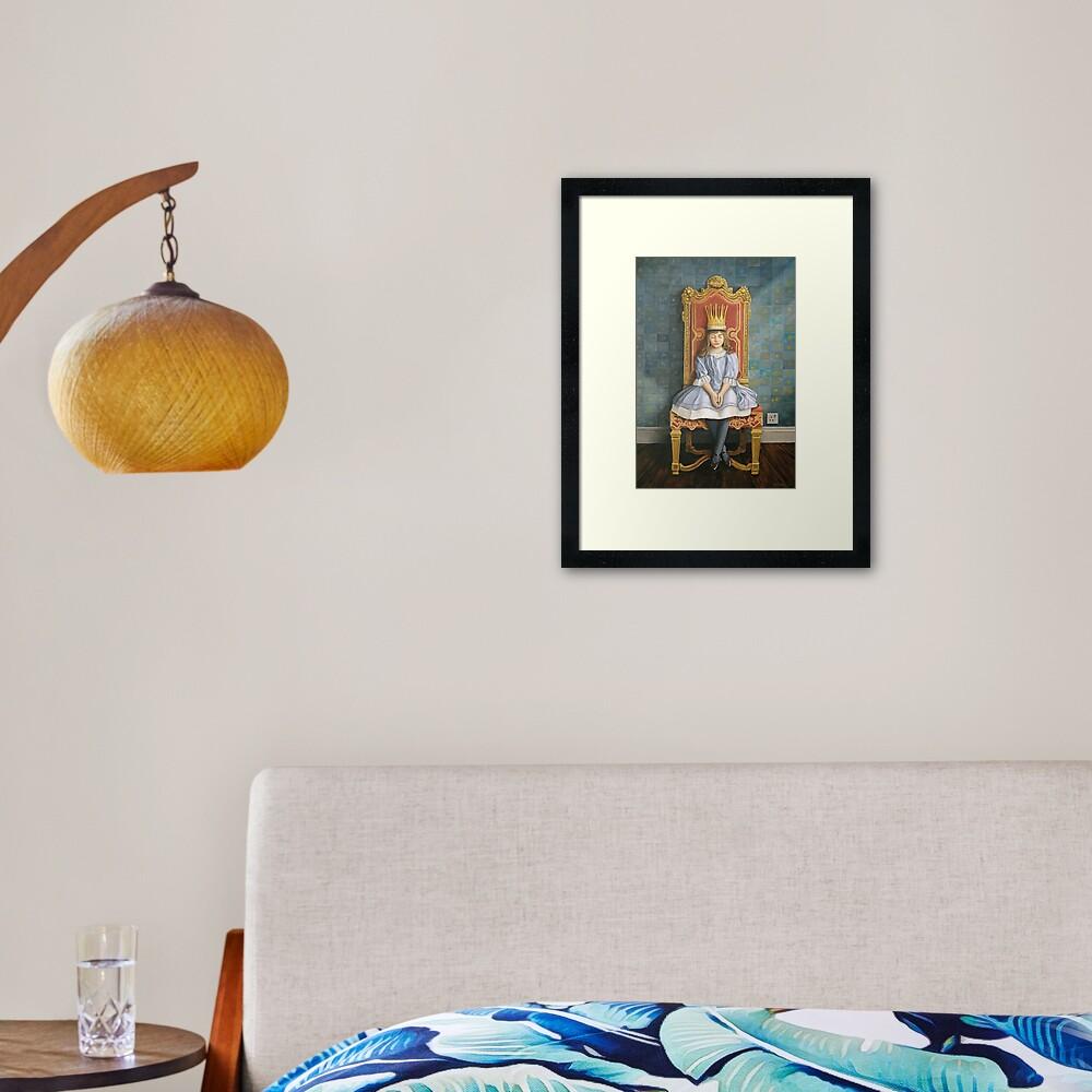 A Peaceful Reign Framed Art Print