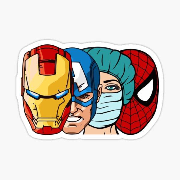 Super Hero Nurse Sticker