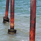 Three Poles - Kingscote Jetty by Stephen Mitchell