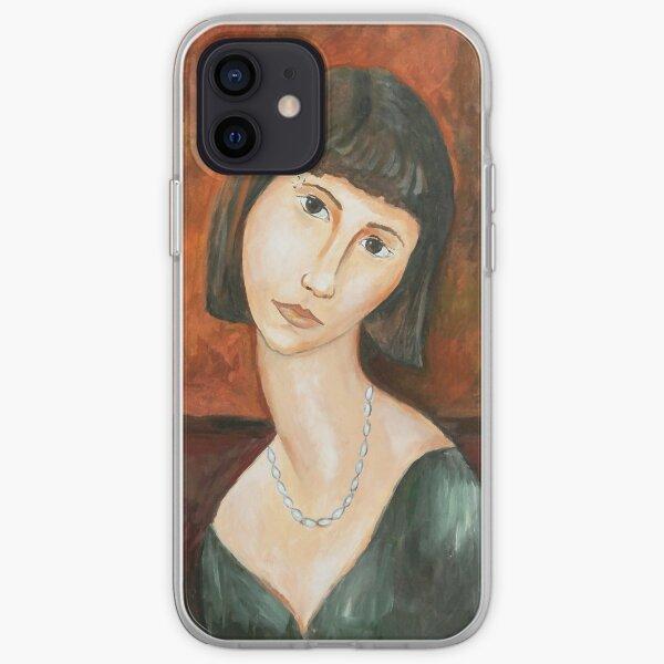 Modigliani style Portrait of a Girl  iPhone Soft Case