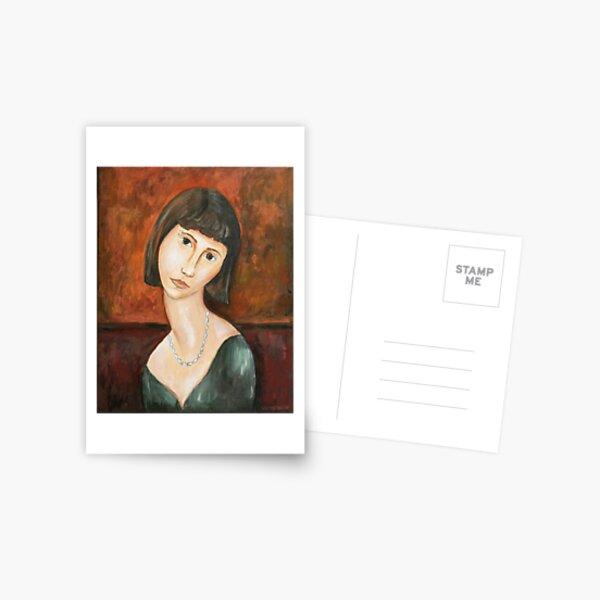 Modigliani style Portrait of a Girl  Postcard