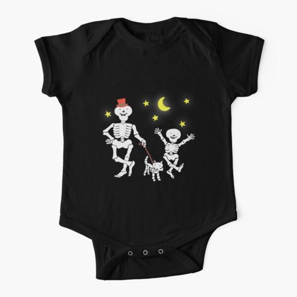 Funny Bones Retro 80s 90s TV Cartoon Design Short Sleeve Baby One-Piece