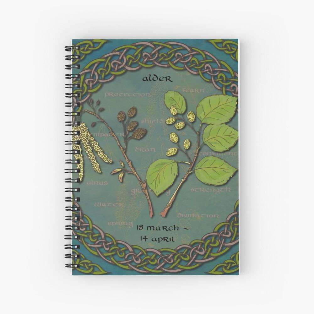Tree Calendar Alder Spiral Notebook