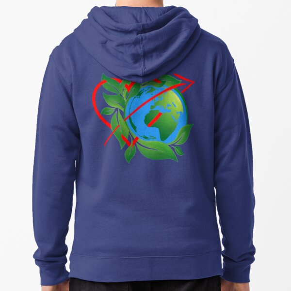 Earth Day Everyday  Zipped Hoodie