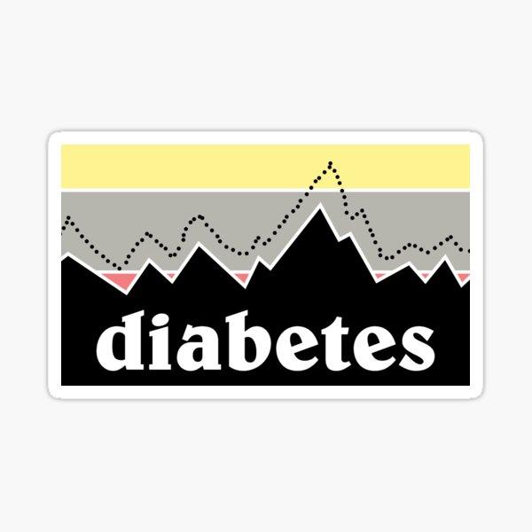 Diabetes Mountain Sticker