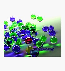 ReneWorks Marbles Green/Blue Photographic Print