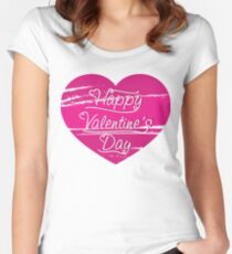 happy valentine's day Women's Fitted Scoop T-Shirt