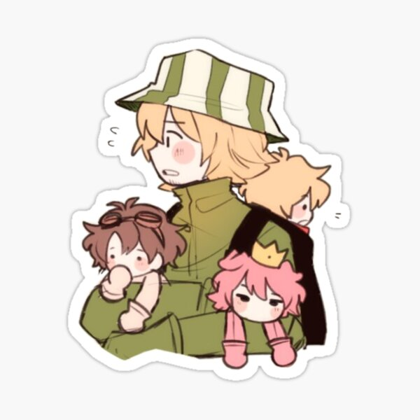 Philza holding Tommy, Techno and Wilbur Sticker