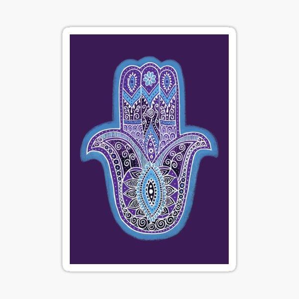 Purple Hamsa Sticker