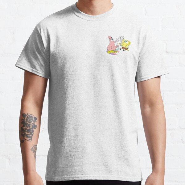 Spongebob and Patrick Smoking Weed Cannabis Cartoon Art Classic T-Shirt