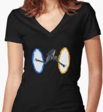 Portal Women's Fitted V-Neck T-Shirt