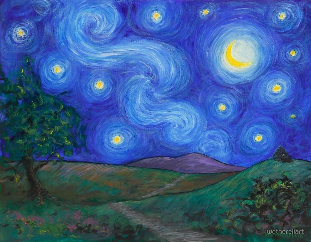 Starry Night on Exmoor by wetherellart
