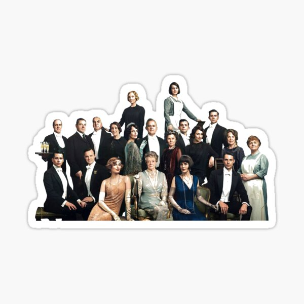 downton abbey cast Sticker