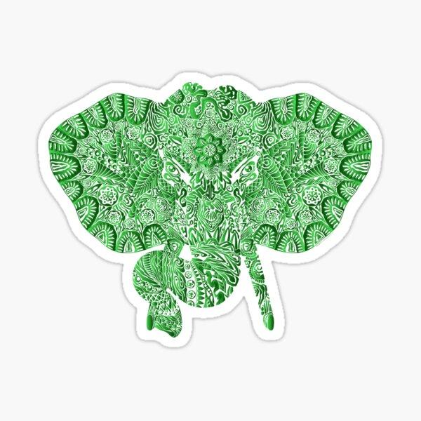 yoga ganesha elephant head design Sticker