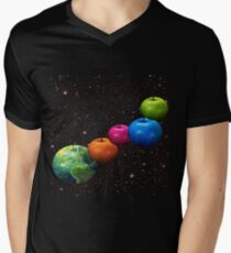 Apple system Men's V-Neck T-Shirt