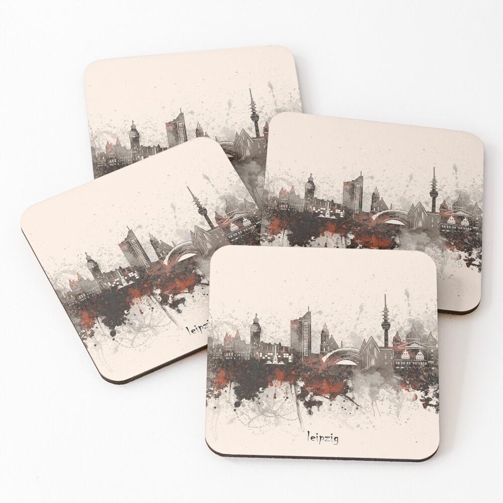 leipzig skyline Coasters (Set of 4)
