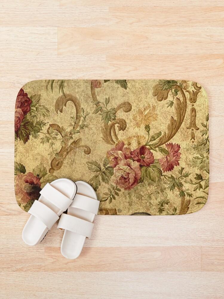 Alternate view of Vintage,tapestry,floral,elegant,victorian,rustic,grunge,elegant,chic Bath Mat