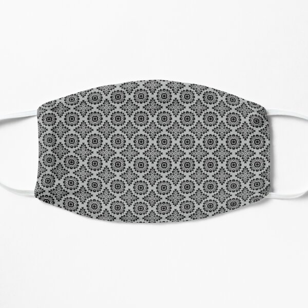 Blumenornament barock grey 21102020 in Klein Flache Maske