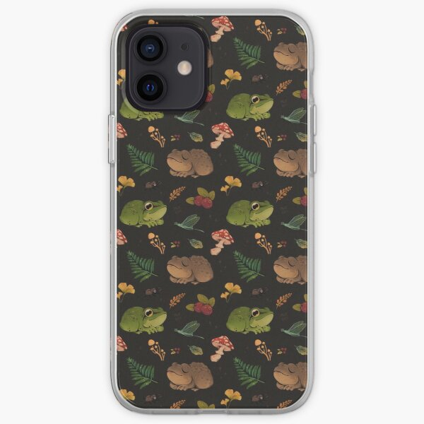 frogs & berries iPhone Soft Case